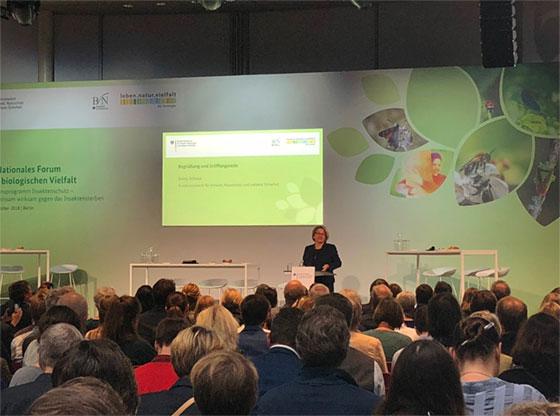 Die zuständige Bundesministerin Svenja Schulze eröffnete das Fachforum.
