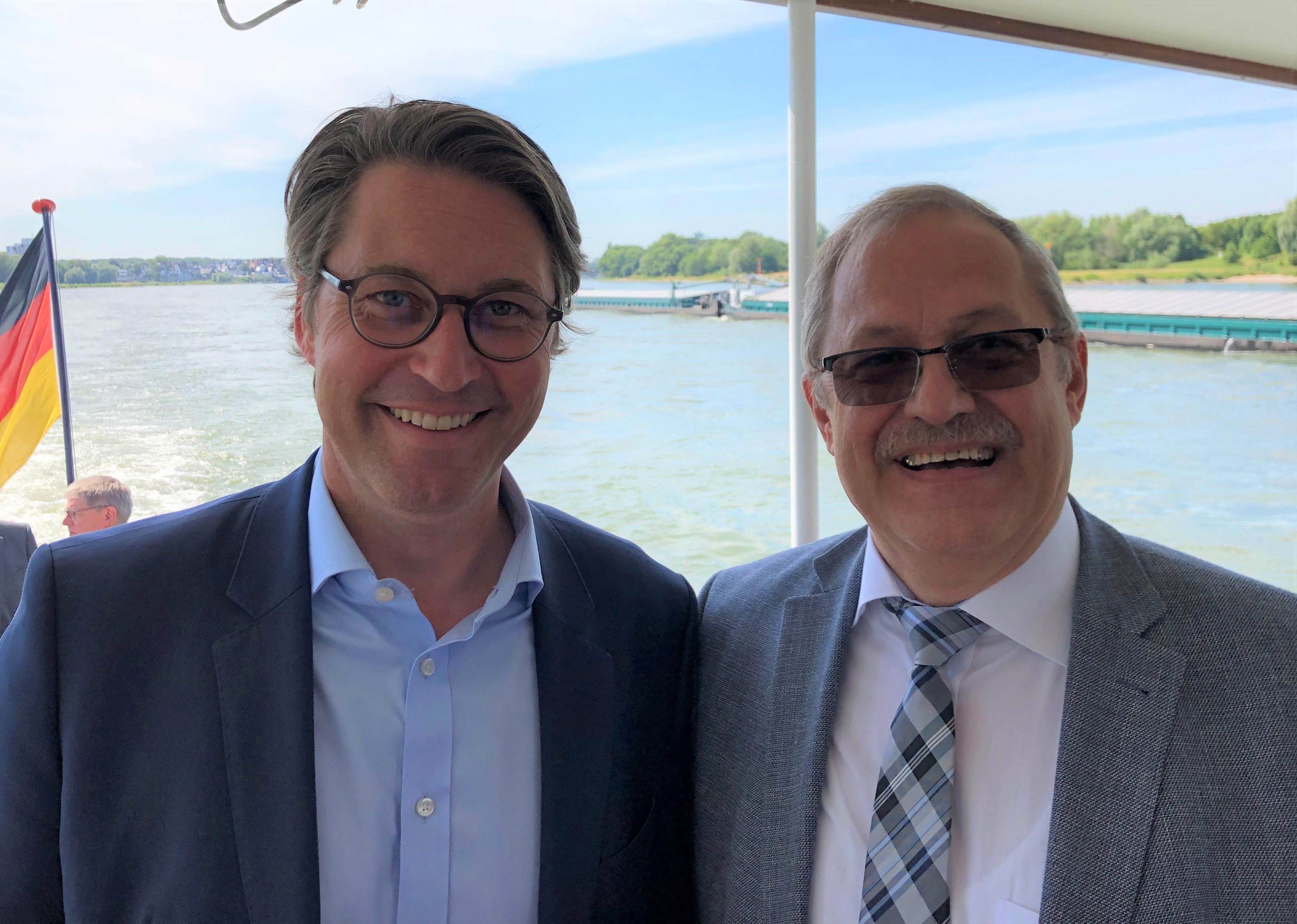 BM Scheuer und Dr. Hagenguth (G.H.)